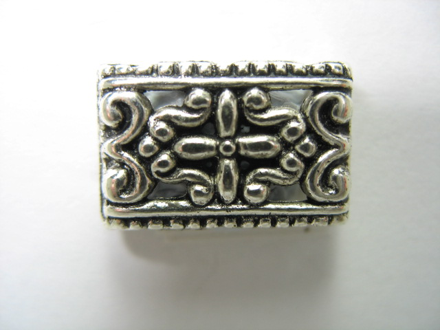 Antique Silver Connector Bead - M917